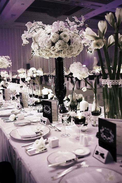 black and white table arrangements black and white wedding centerpieces wedding stuff ideas
