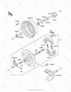 Kawasaki Atv 1999 Oem Parts Diagram For Front Hub