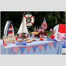 Nautical Red, White, + Blue July 4th Party! Pizzazzerie