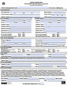 rental application form free printable documents With housing rental application template