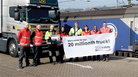 Eurotunnel Le Shuttle Freight Welcomes Its 20 Millionth