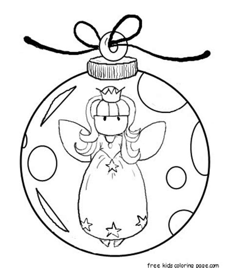 printable angel christmas tree decorations coloring