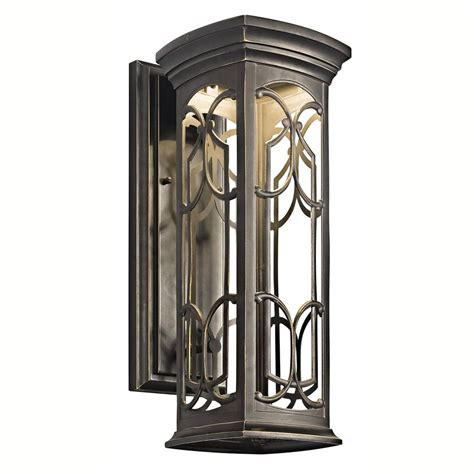 kichler franceasi 18 inch led outdoor wall light