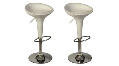 canapé clic clac design lot de 2 tabourets de bar blanc tabouret design pas cher