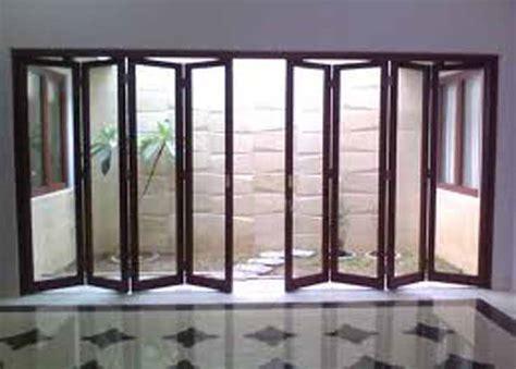 pintu lipat aluminum elegan harga terjangkau partisi pintu