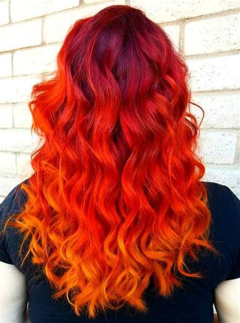 25 Thrilling Ideas For Red Ombre Hair