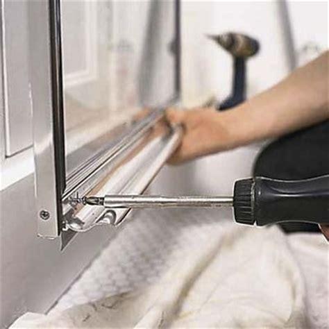 replacing the shower door parts is it difficult we