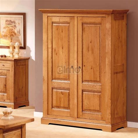 armoire penderie armoire penderie 2 portes ch 234 ne massif de ou merisier massif