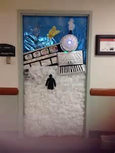polar express door decorating contest polar express