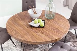 Tisch Rund Ausziehbar : esszimmertisch rund 120 cm massivholz sheesham esstisch ~ A.2002-acura-tl-radio.info Haus und Dekorationen