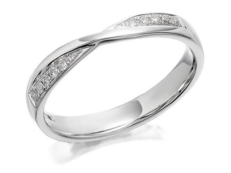 9ct white gold crossover wedding ring 10pts r2354 f hinds jewellers