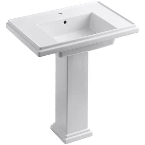 kohler tresham ceramic pedestal combo bathroom sink with