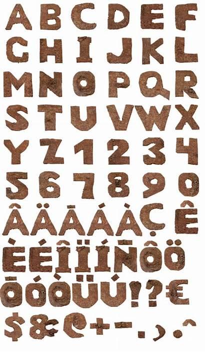 Log Tree Fonts Letter Font Letters Carving