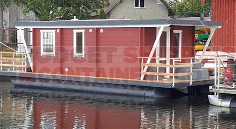 Boat In A Shipping Container by Shipping Container Pontoons