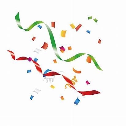 Transparent Celebration Ribbon Confetti Paper Ribbons Clip