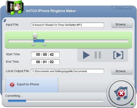 make ringtones for iphone kasurleeche imtoo iphone ringtone maker v1 0 17 0710