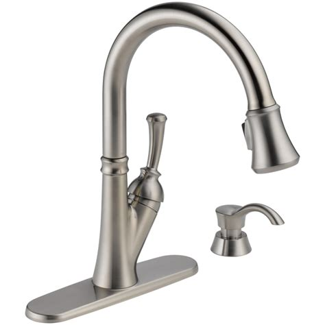 best brand of kitchen faucet delta 19949 sssd dst savile 1 handle pull kitchen