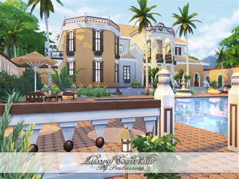 Luxury Town Villa By Pralinesims At Tsr » Sims 4 Updates