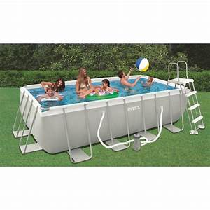 Piscine Tubulaire Intex : piscine intex ultra frame 400x200x100 piscine tubulaire ~ Nature-et-papiers.com Idées de Décoration