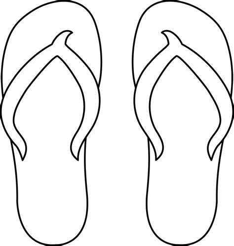 flip flops coloring pages 7 best images of flip flop stencil printable free