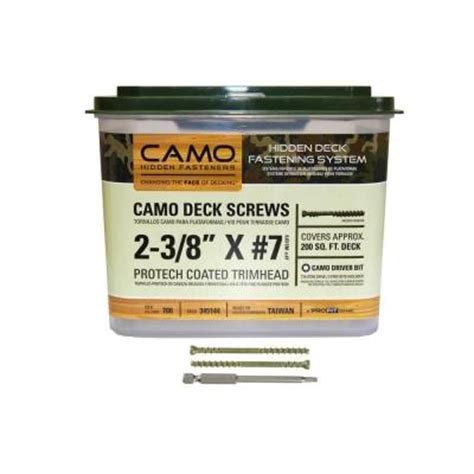 camo deck tool home depot camo 2 3 8 in protech coated trimhead deck 700