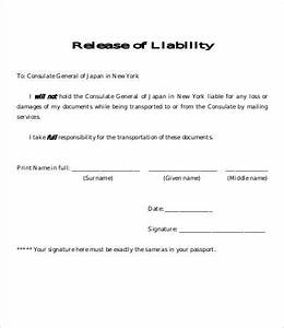 release of liability form template 8 free sample With release from liability form template