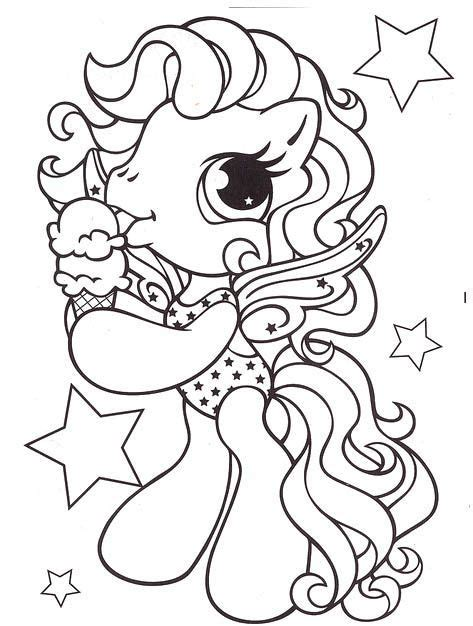 pony eat ice cream coloring pages   pony