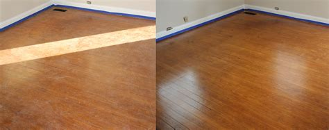 Buffing Hardwood Floors Before And After by Before And After Buff Coat Buff Coat Hardwood Floor
