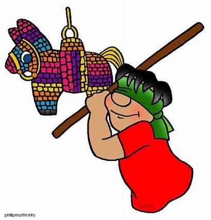 Pinata Mexican Clip Clipart Mexico Boy Fiesta