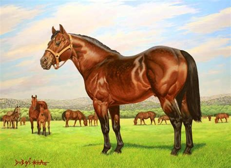 king quarter foundation 234 horse horses howard dubois painting performance american aqha stallion sire stallions paintings fineartamerica ranch caballo famous