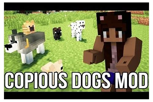 how to download minecraft copious dogs mod