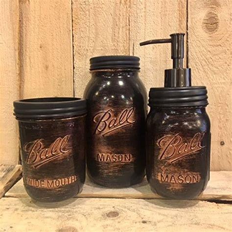 Rustic Bathroom Accessories Sets by Jar Black Copper Rustic Bathroom Accessory Set