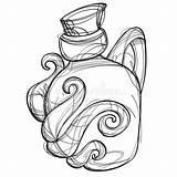 Cartoon Drawing Magic Elixir Bottle Glass Shape Mobile Unusual Applications Gaming Coloring Flesje Glazen Magische Een Illustrations sketch template