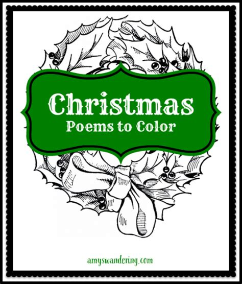 Christmas Poems To Color