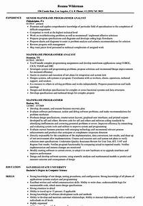 Mainframe Programmer Resume Samples