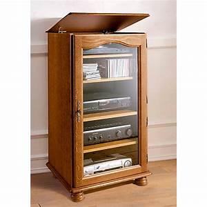 Meuble Hifi Bois : meuble hifi en ch ne cluzel ~ Voncanada.com Idées de Décoration