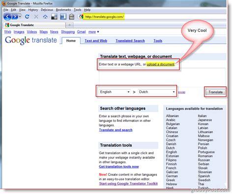 translate documents  websites  google translator