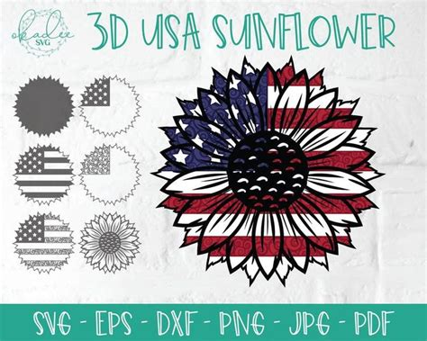 The svg is available free on my website. 3D USA Sunflower SVG 3D Mandala SVG Sunflower Mandala Svg ...