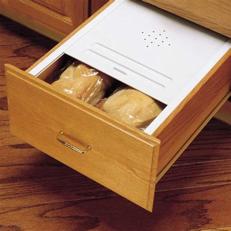kitchen cabinet storage inserts rev a shelf white bread drawer cover kit 16 3 4 quot w bdc 200 5813