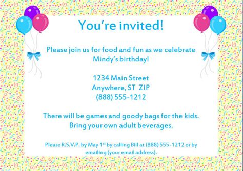 sample birthday invitation templates psd ai word