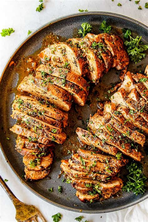 baked pork tenderloin  garlic herb butter video