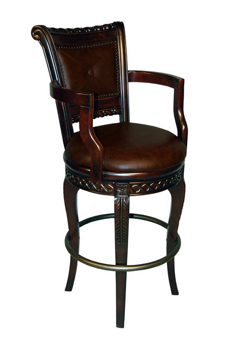 european inspired upholstered captain bar stool