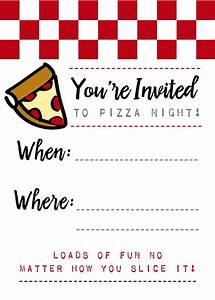 pizza night invites With pizza party flyer template free