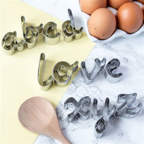 letter cookie cutters alphabet cookie cutters in script font by berylune 22794