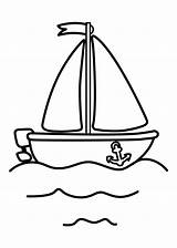 Boat Coloring Pages Printable Toddlers Sailboat Ship Sailing Procoloring sketch template