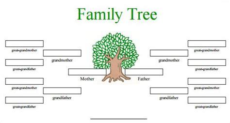 blank family tree templates  family tree