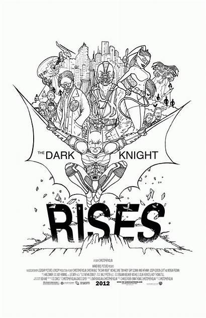 Knight Dark Rises Coloring Pages Batman Promo