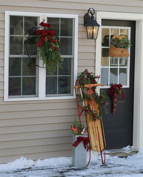 outside decorating ideas outdoor vintage christmas decorating ideas how to make a