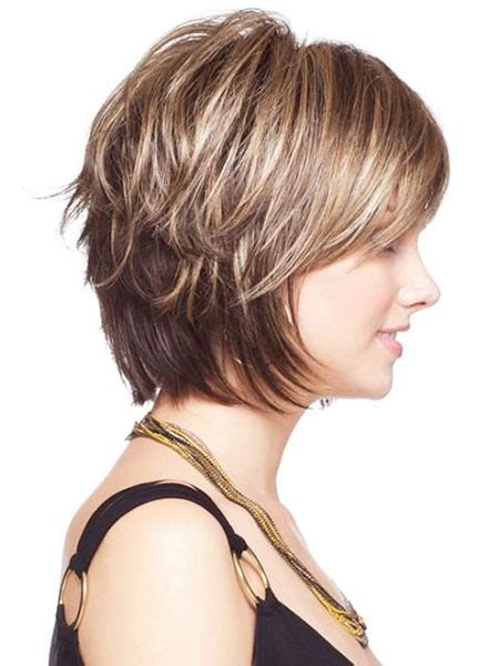 short layered hairstyles  thick hair short
