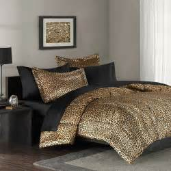 mainstays leopard print bedding comforter mini set walmart com